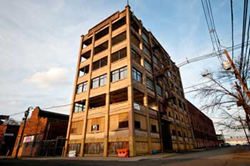 The F. Berg Hat Factory Complex before conversion into for-sale housing.