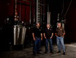 Yellow Rose Distilling founders Troy Smith, Ryan Baird and Randy Whitaker at the Houston distillery.