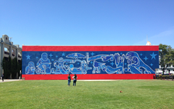 Jaime Sanchez and Paul De Worken's mural in Watsonville