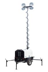 4,000 Watt Metal Halide Floodlight Tower with Diesel Engine Generator