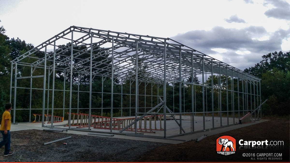 New economical rv carports and metal garage fabrication for 40x80 steel building