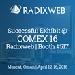 COMEX 2016: Radixweb Grabbed the Attention to its Most Advanced Technology Offerings