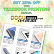 DocuCopies.com Greets Yearbook Season with Book and Booklet Printing Promotions