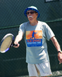 An avid tennis fan, Nels Gerhard Glesne plays doubles four times a week.