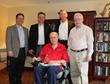 R to L: Rick Pierro (Superior Controls), Jose Rivera (CSIA), Dick Morley, Rick Caldwell (SCADAware), Chuck Schelberg