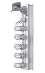 Class 1 Division 1 LED Stack Light with 5 Lamps and an Audible Horn