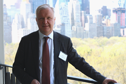 Finnish Minister Rehn visited New York City on April 19, 2016 to