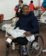 Cedric King at the Medical Tent after the race