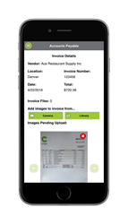 Attach images of invoices to accounts payable with Ctuit's On The Fly™ mobile app or using a scanner
