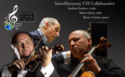Misha Quint, cello, Bruno Canino, piano, Andrzej Grabiec, violin