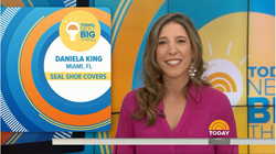NBC Today Show Next Big Thing finalist Daniela King from Seal Shoe Covers, Water Resistant shoe protectors