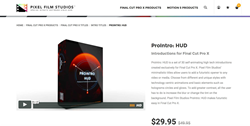 ProIntro HUD Released for Final Cut Pro X by Pixel Film Studios