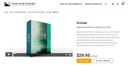 FCPX Plugin Developer, Pixel Film Studios, Releases ProTele