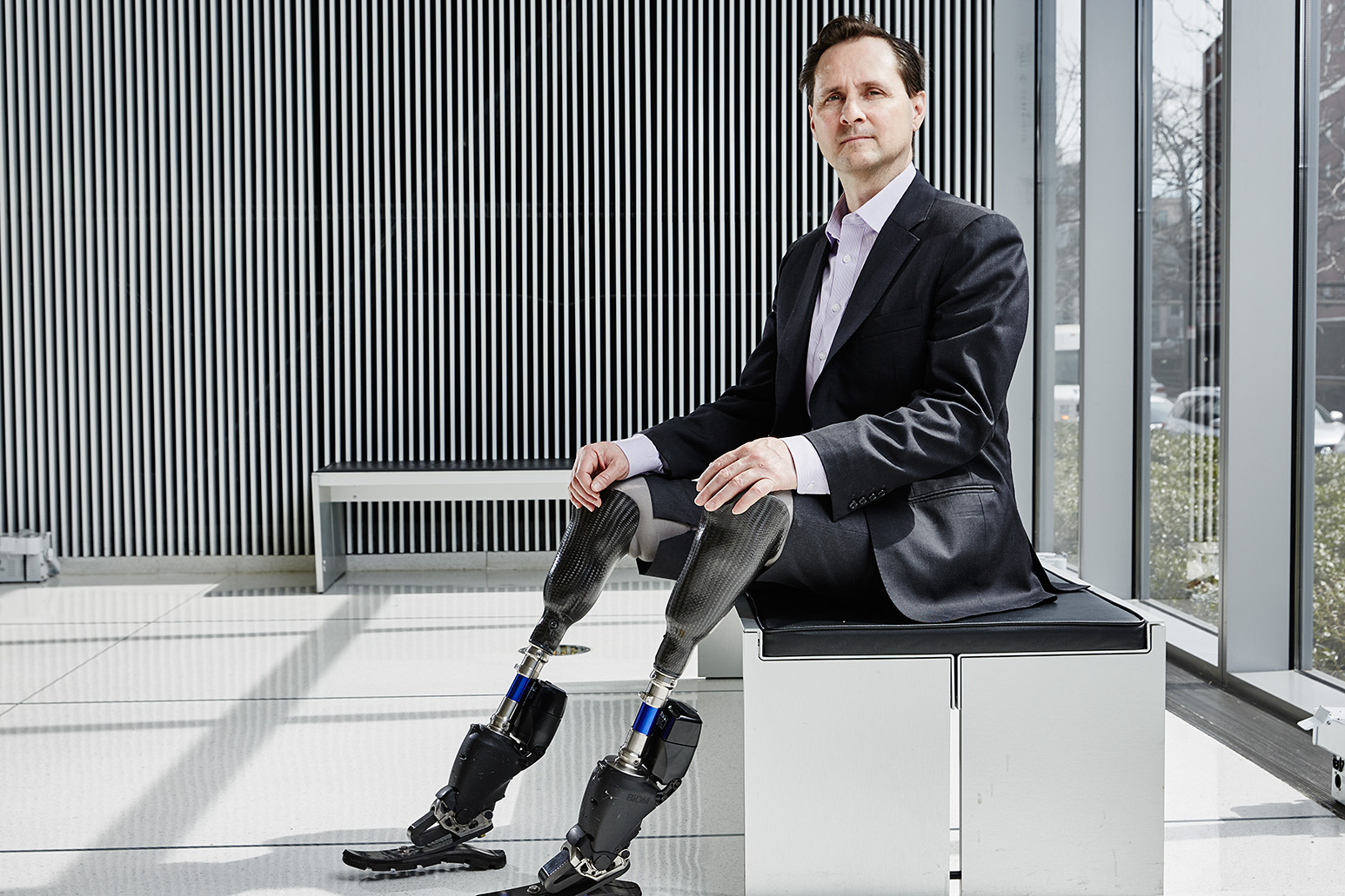 U S Bionic Knee And Ankle Prosthesis Pioneer Hugh Herr