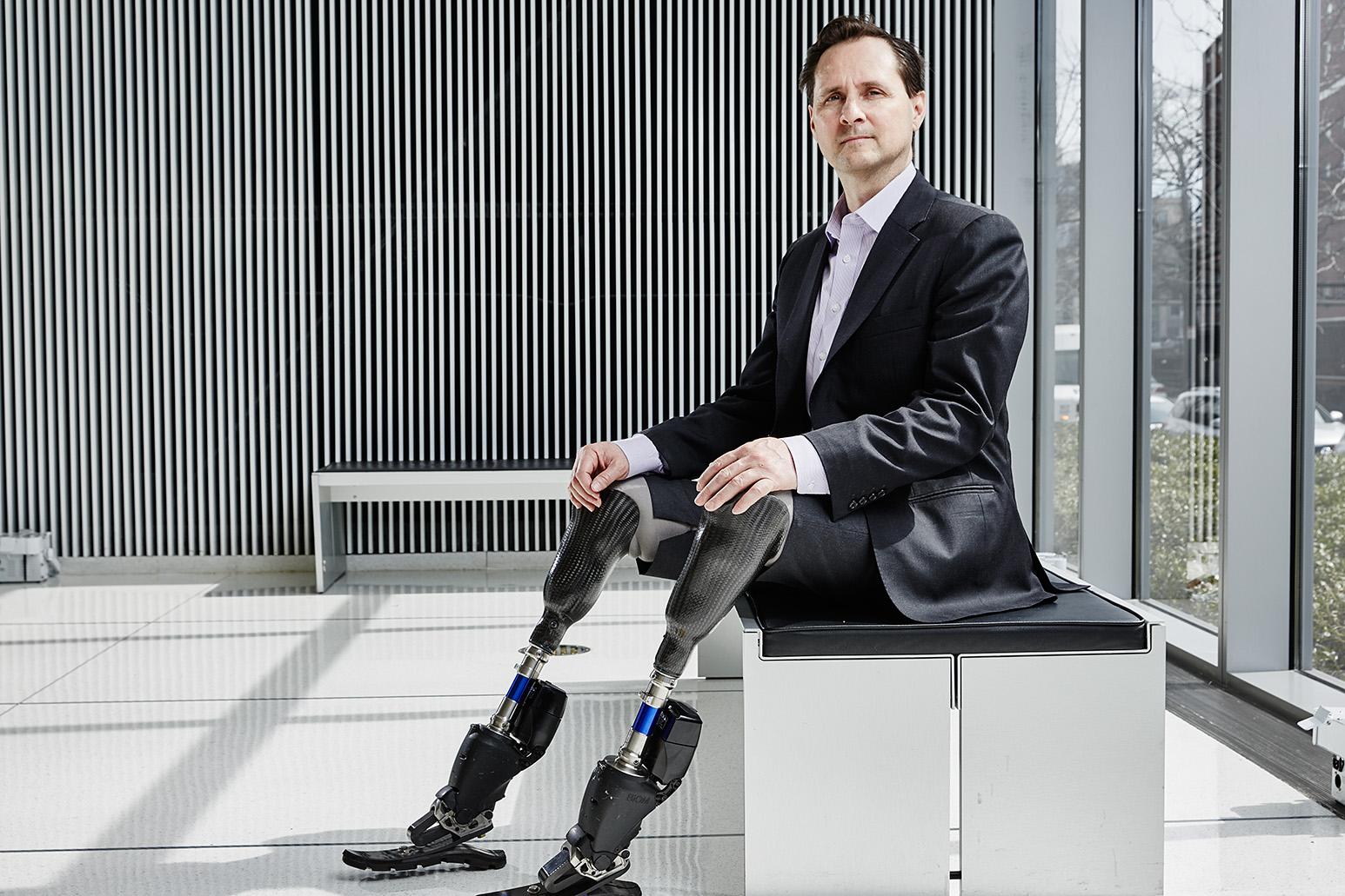 u s  bionic knee and ankle prosthesis pioneer hugh herr