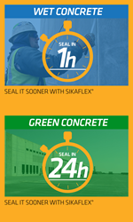 Seal it sooner with Sikaflex