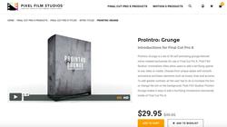 ProIntro Grunge - Final Cut Pro X Plugins - PFS
