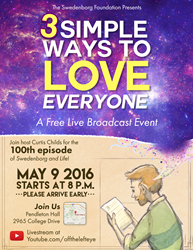 Swedenborg and Life 100th Episode Event Poster