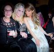 Philanthropists and socialites Alexandrina Doheny and Jo Hilton with international chanteuse Maria Elena Infantino - Photo courtesy of Misha Urubhov