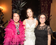 Sue Wong, emerging singing star Melissa Lee Diehl with philanthropist and socialite Alexandrina Doheny - Photo courtesy Sheri Determan