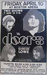 1970 Jim Morrison and the Doors Boston Arena Concert Posters