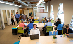 Adams Hub open co-working areas perfectly complement the dedicated office space, state-of-the-art conference rooms and community gathering areas all powered with cutting edge technology.