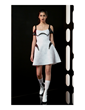 The new Her Universe Star Wars: The Force Awakens Collection, now available at Hot Topic, includes this stunning Stormtrooper Dress, reflecting their powerful white armored helmet.