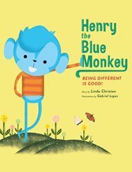 Henry the Blue Monkey | Children's Book Cover