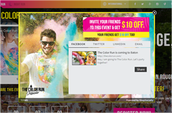 The Color Run_Refer-a-Friend app by ShopSocially