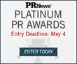 Call for Entries – PR News' Platinum PR Awards Entry Deadline is Next Wednesday, May 4, 2016