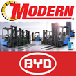 Modern Group Signs Exclusive Dealer Agreement With BYD Forklifts