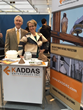 Natalie Kaddas, CEO of Kaddas Enterprises, with Patrick Scott, director of sales at Kaddas Enterprises, at the Hannover Messe trade fair