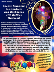 The Balloon Madness is a party invention which will provide a unique and highly festive feel to any social gathering.