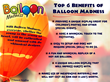 The Balloon Madness is a party invention which will add a whimsical and highly entertaining touch to any party occasion.