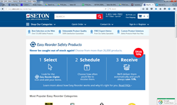 Introducing Seton Easy Reorder Service for Workplace Safety Products