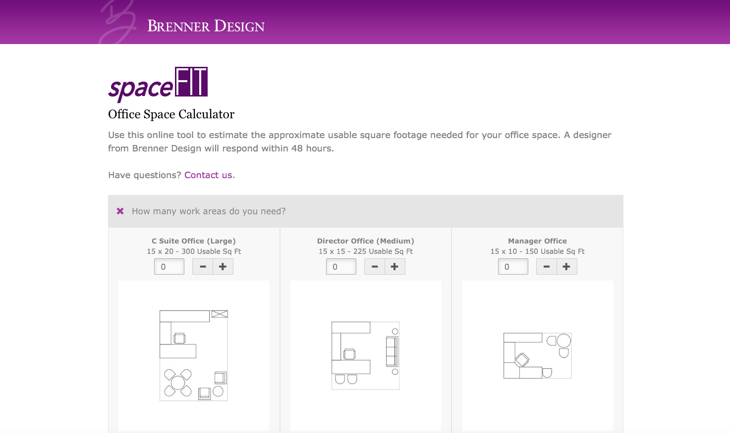 Brenner design launches innovative office space planning tool for Office design tool
