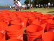 Event participants experienced the journey millions of women and children around the world make every day to provide clean water for their families by walking 5 kilometers carrying buckets of water.