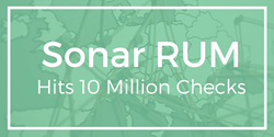 10 million checks sonar rum