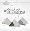 """Luxury Camping Company Shelter Co. Debuts Three New Colors In Their Limited Edition """"Wild California"""" Tent Line"""