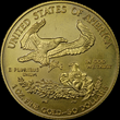 The back of a counterfeit 2012-dated American Eagle $50 denomination one-ounce gold bullion coin. (Photo courtesy of Numismatic Guaranty Corporation.)