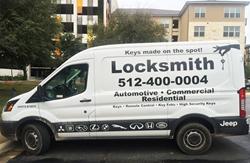 Locksmith van for Henry's Lock & Key.