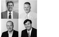 A photo of attorneys Chip Wagar, Thomas M. Richard, Robert A. Kutcher, and Bradley J. Luminais, Jr.