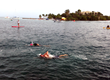Jeff Dykstra finished eighth in his division for the swim portion of the Ironman 70.3 St. Croix on Sunday.