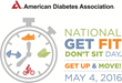 American Diabetes Association National Get Fit Don't Sit Day, May the Fourth Be with You