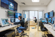 All SIM Center rooms — even the reception area and bathroom — are wired with microphones and cameras and connected to a large control room where technicians stage the simulations behind the scenes.