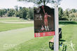 The 18th Hole at the Julius Erving Golf Classic with an iconic image of Julius' illustrious career