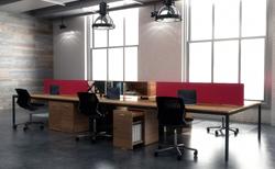 benching, desking, fabric, veneer, Innovant, NIGEL