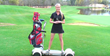 Meredith Kirk on a GolfBoard at TPC Myrtle Beach