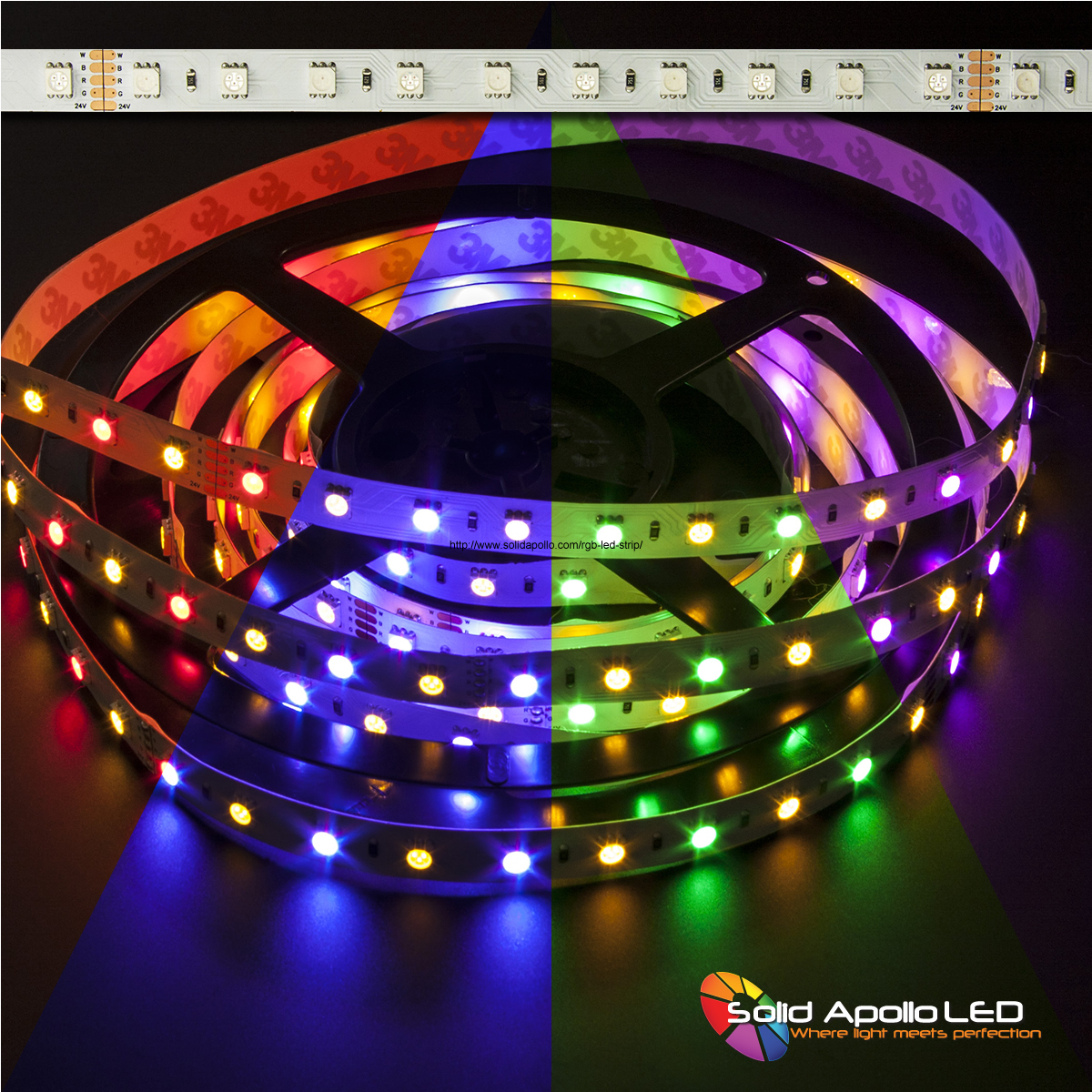 solid apollo led introduces over 20 different types of rgb and rgbw led strip lights. Black Bedroom Furniture Sets. Home Design Ideas