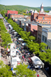 Aerial View of Historic Market Street during GlassFest